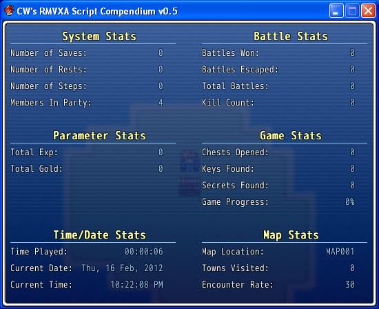 Extra Stats (RMVXA)