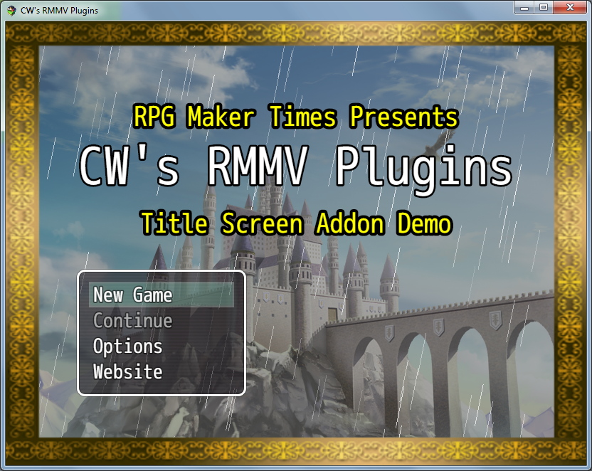 Title Screen Add-On Plugin (RMMV)