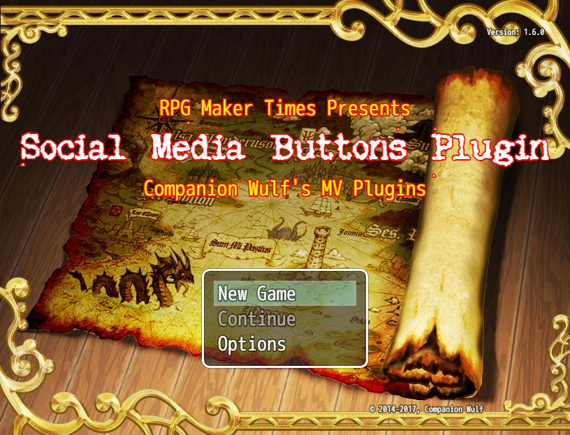Social Media Buttons Website Plugin v1.8 (RMMV)