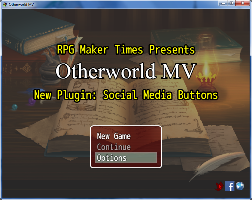 New Plugin: Social Media Buttons/In-Game Website (RMMV)