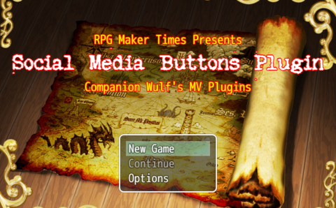 RPG Maker MV Plugin: Social Media Buttons Version 1.8 (RC2.0) – Updated