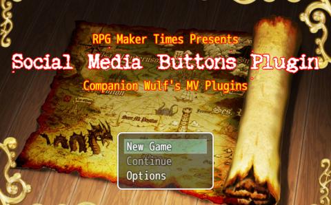RPG Maker MV Plugin: Social Media Buttons Version 1.8 (RC2.0) – Updated